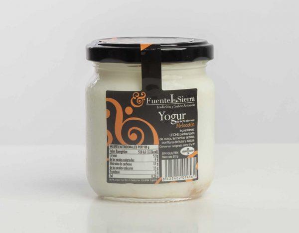 Yogur Natura de Oveja con base de confitura de melocotón
