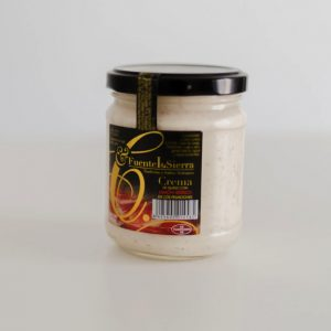 Crema de queso curado y jamón ibérico - Fuente la Sierra